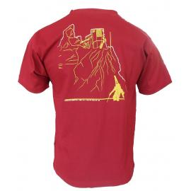 Oρειβατικά T-Shirt Mountain equipment Statement Red