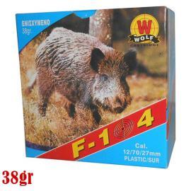 Φυσίγγια κυνηγιού συγκεντρωτικά Wolf F104 ενισχυμένο 38gr