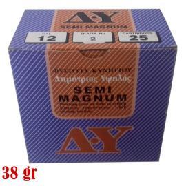 Φυσίγγια κυνηγιού συγκέντρωσης Δ. Υψηλός Semi-Magnum 38gr