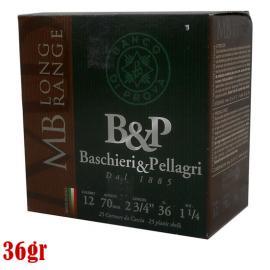 Φυσίγγια κυνηγιού συγκέντρωσης B&P MB Long Range 36gr