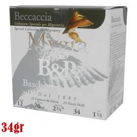 Φυσίγγια κυνηγιού μάλλινη τάπα B&P Mygra Beccaccia 34gr