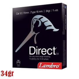 Φυσίγγια κυνηγιού διασποράς Lambro Direct 34g