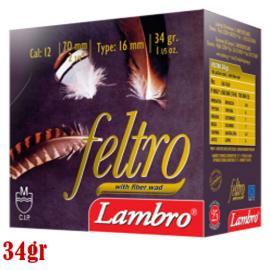 Φυσίγγια κυνηγιού μάλλινη τάπα Lambro Feltro 34gr