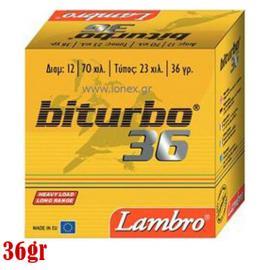 Φυσίγγια κυνηγιού συγκεντρωτικά Lambro Biturbo 36gr