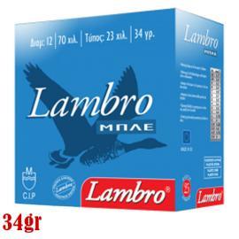 Φυσίγγια κυνηγιού συγκέντρωσης Lambro Blue 34gr