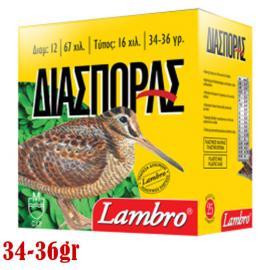 Φυσίγγια κυνηγιού Lambro 34-36gr Διασποράς