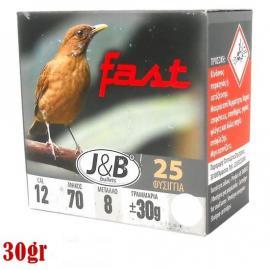 Φυσίγγια κυνηγιού συγκέντρωσης J&B Fast 30gr