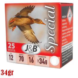 Φυσίγγια κυνηγιού συγκέντρωσης J&B Special 34gr