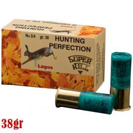 """Φυσίγγια κυνηγιού συγκέντρωσης SuperKill """"Lagos"""" 38gr No 3/4 ανάμεικτα"""