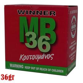 Φυσίγγια κυνηγιού συγκέντρωσης Κουτουμάνος Winner MB 36gr