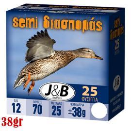 Φυσίγγια κυνηγιού διασποράς J&B 38gr Semi magnum