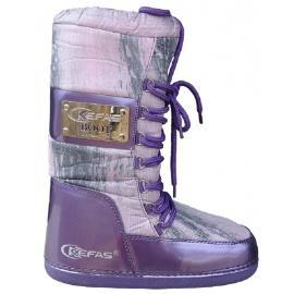 Γυναικείες μπότες χιονιού απρέ σκι Kefas Artica Vogue 07 Purple