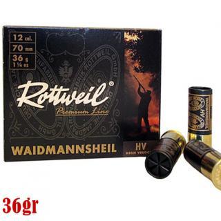 Φυσίγγια κυνηγιού συγκέντρωτικά Rottweil Waidmannsheil 36gr