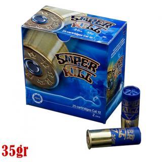 Φυσίγγια κυνηγιού συγκέντρωσης SuperKill Μπλε 35gr