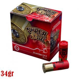 Φυσίγγια κυνηγιού συγκέντρωσης SuperKill Κόκκινο 34gr