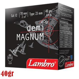 Φυσίγγια κυνηγιού συγκέντρωσης Lambro Demi Magnum 40gr