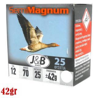 Φυσίγγια κυνηγιού συγκέντρωσης J&B Semi Magnum 42gr