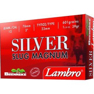 Φυσίγγια μονόβολα κυνηγιού Lambro Silver Slug Magnum